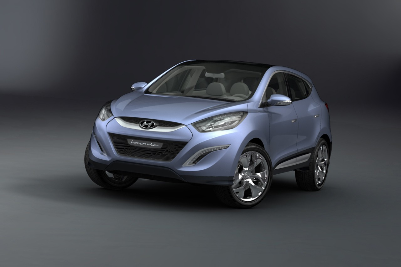 hyundai ix onic hed 6 concept car makes an early unveiling. Black Bedroom Furniture Sets. Home Design Ideas