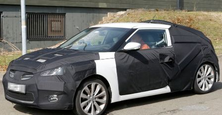 hyundai veloster coupe Hyundai Veloster Coupe spy shots