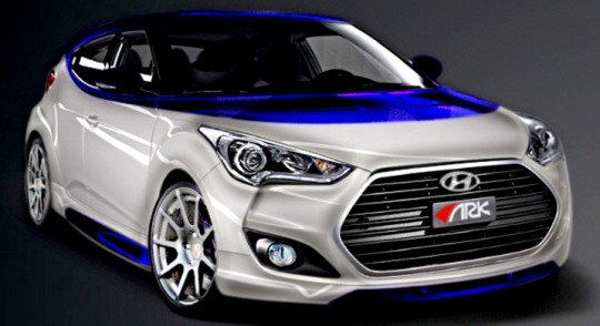 hyundai sema 2012 Hyundai Veloster Alpine features engine modifications and performance exhaust system