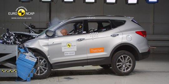Santa Fe safety rating 5 Star Safety Rating For The New Hyundai Santa Fe