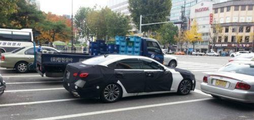 genesis 2014 Hyundai Genesis, codenamed DH, spy shots
