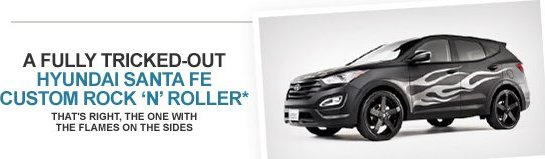 free hyundai santa fe Win Black Painted Hyundai Santa Fe 2013 ( Model Year)