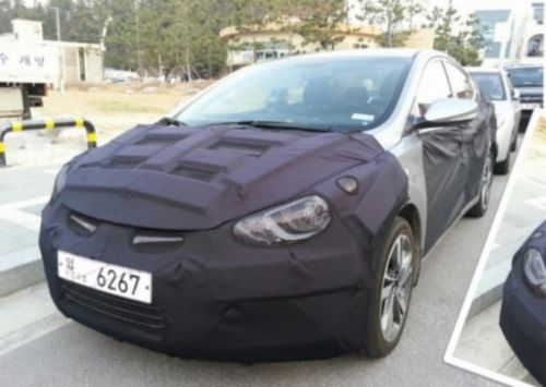 Elantra MD Facelift Hyundai Elantra Facelift Spied In Korea