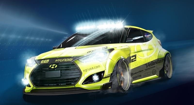 Hyundai Veloster Tires >> Yellowcake Night Racer Veloster Turbo To Debut At Hyundai ...