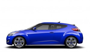 Blue Hyundai Veloster Turbo 2014 Model Year