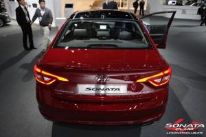 2015 Hyundai Sonata Red