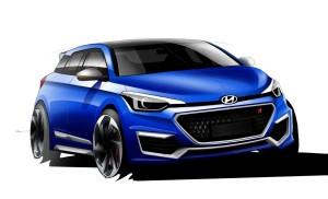 Hyundai i20N sketch 300x182 Latest Hyundai News And Information On 2015 Korean Cars