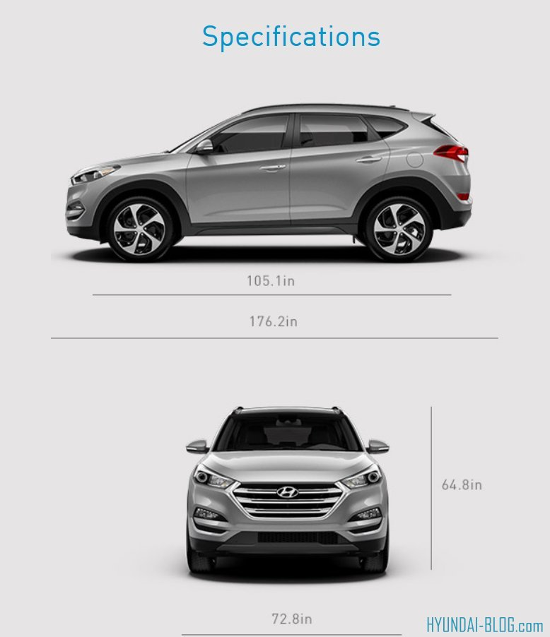 2016 Tucson Gets Bigger In Size - Dimensions