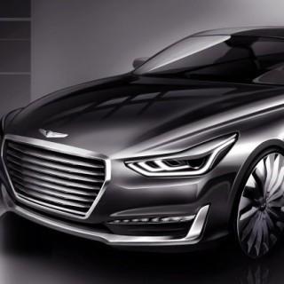 Genesis G90 Sketch