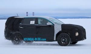 Hyundai SUV spy shots