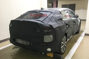Hyundai fastback spy shots