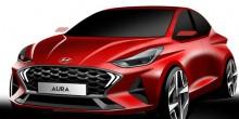 Hyundai Aura official designer sketch