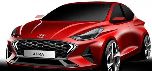 Hyundai Aura official designer sketch