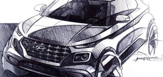 Hyundai car sketches & image renderings