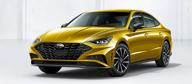 Glowing Yellow Hyundai Sonata 2020