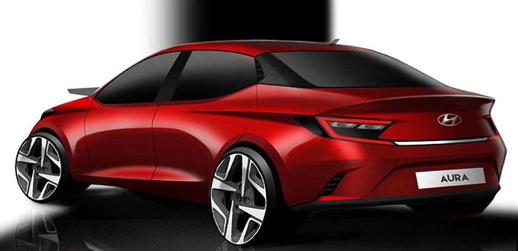 Hyundai Aura image rendering