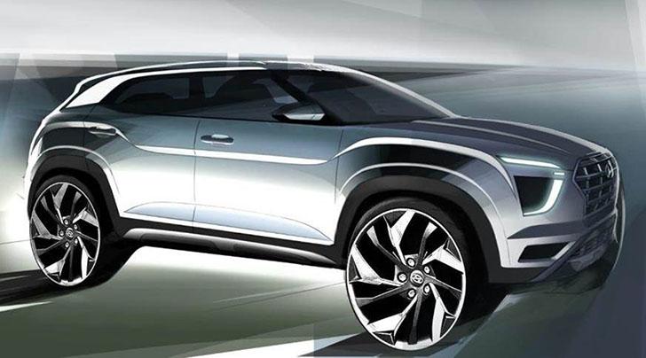 Hyundai Creta designer sketch