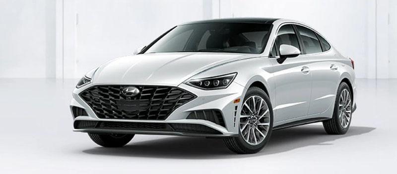 Quartz White Hyundai Sonata 2020