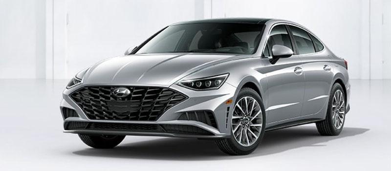 Shimmering Silver Pearl Hyundai Sonata 2020