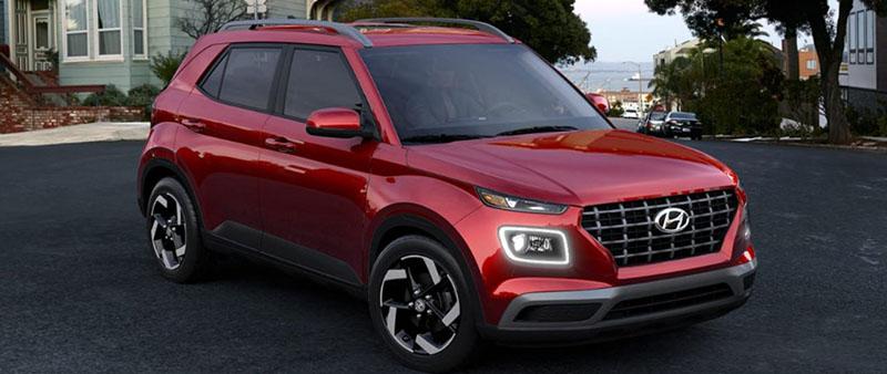 Hyundai Venue Scarlet Red Pearl