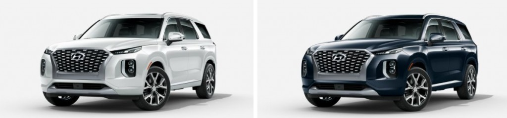 Hyundai Palisade exterior color options