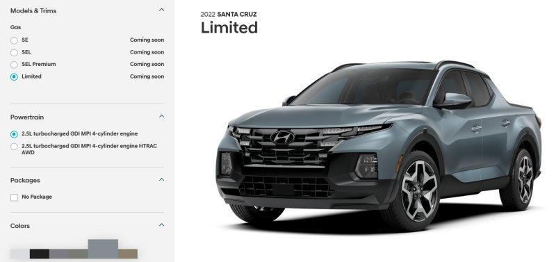 Configure your Hyundai Santa Cruz online