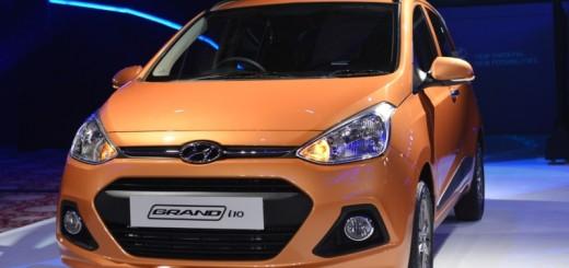 Hyundai Grand i10 in orange color